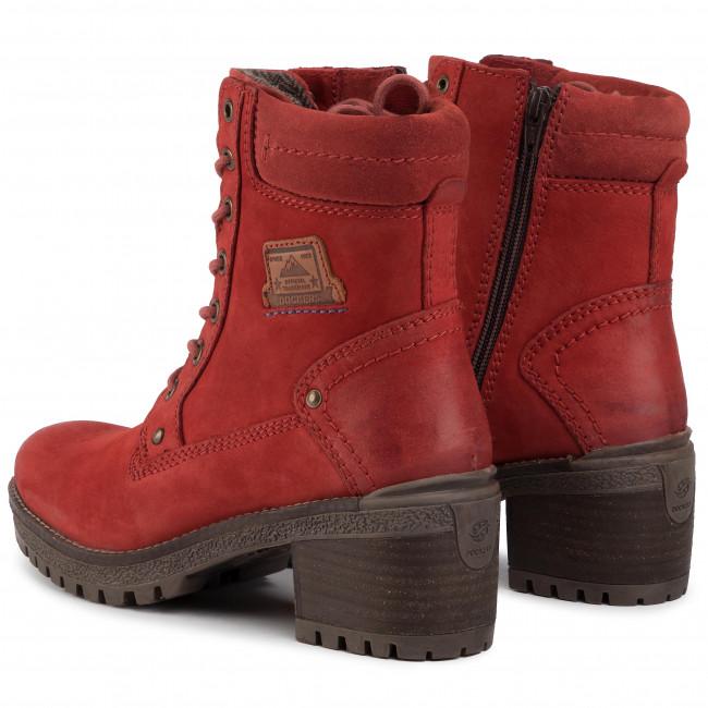 Magasított cipő DOCKERS - 43LN201-350720 Dk Red  - Bokacsizmák - Csizmák és egyebek - Női KfewA