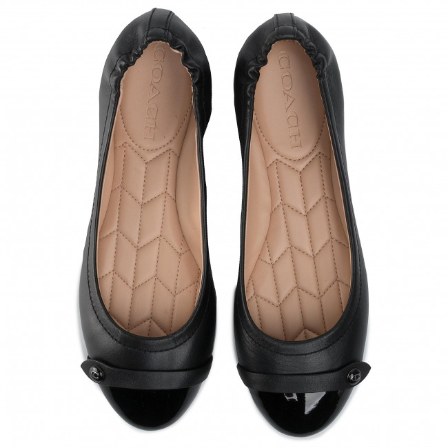 Balerina COACH - Brandi Cbut Bal Pat G4377 10011323 Black/Black - Balerina - Félcipő - Női Rb1qh