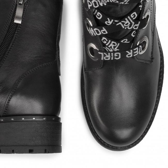 Magasított cipő KARINO - 3028/076-P Fekete - Bokacsizmák - Csizmák és egyebek - Női j4u4G