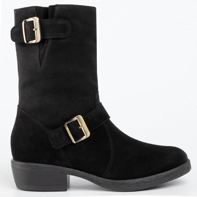 Magasított cipő SOLO FEMME - 19104-01-G70/000-02-00 Fekete - Bokacsizmák - Csizmák és egyebek - Női 6ppzN