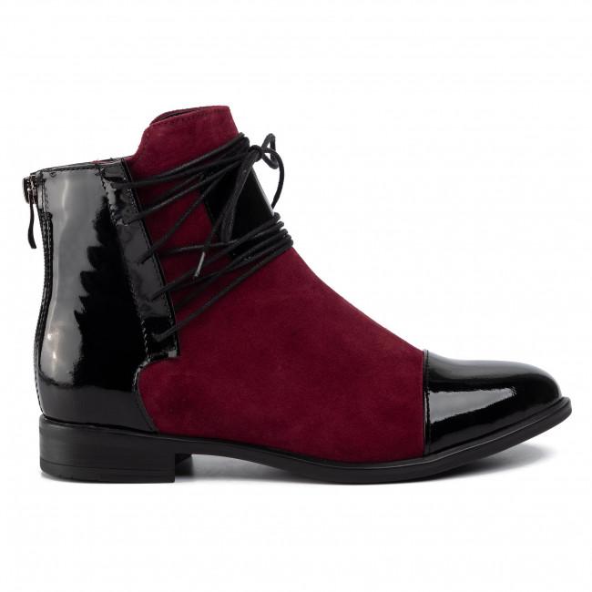 Magasított cipő ROBERTO - 288 Czarny Lak/Bordo Wel - Bokacsizmák - Csizmák és egyebek - Női 6y5n0
