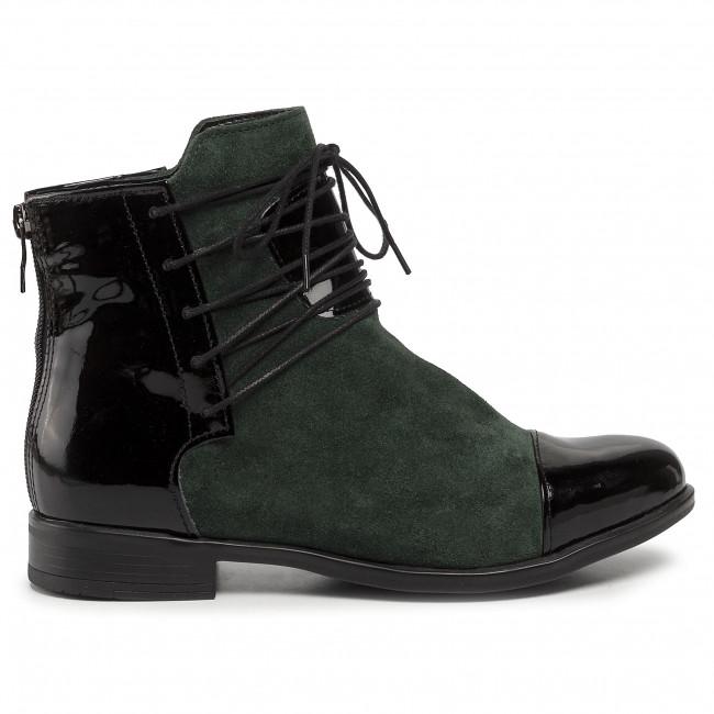 Magasított cipő ROBERTO - 288 Czarny Lakier/Butelka Welur - Bokacsizmák - Csizmák és egyebek - Női arnNQ