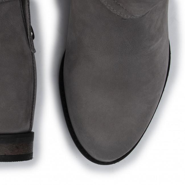 Magasított cipő EKSBUT - 69-5761-M88/0PN-1G Szürke - Bokacsizmák - Csizmák és egyebek - Női 1yhk4