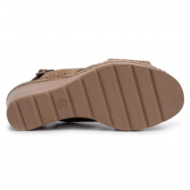 Szandál REFRESH - 72206 Taupe - Magasított sarkú cipők - Papucsok és szandálok - Női uSel6