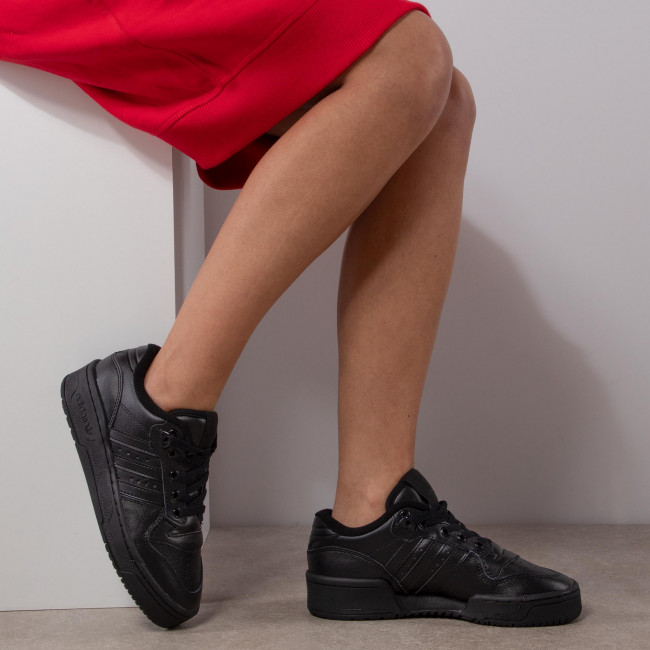 Cipő adidas - Rivalry Low J EG3637 Cblack/Cblack/Ftwwht - Sneakers - Félcipő - Női 0LNX4