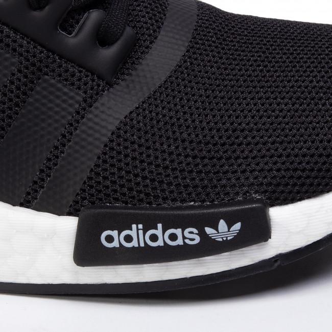Cipő adidas - Nmd_R1 J FW0431 Core Black/Core Black/Cloud White - Sneakers - Félcipő - Női 9iJYD