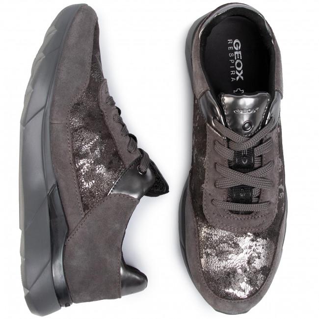 Sportcipő GEOX - D Hiver A D94FHA 0MA22 C9002  Dk Grey - Sneakers - Félcipő - Női