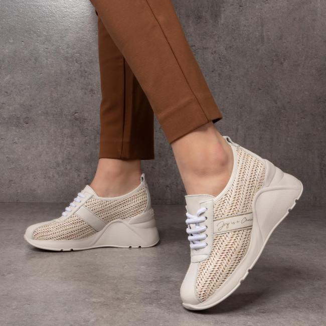Sportcipő HISPANITAS - Tokio RHV00252  Panna - Sneakers - Félcipő - Női 4MBHr