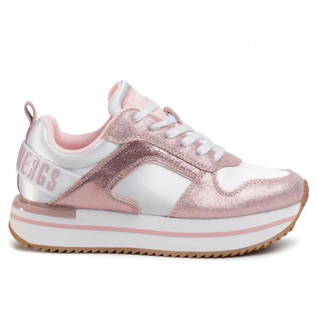 Sportcipő BIKKEMBERGS - Ladene B48BKW0057  White/Soft Pink  - Sneakers - Félcipő - Női jVJN9