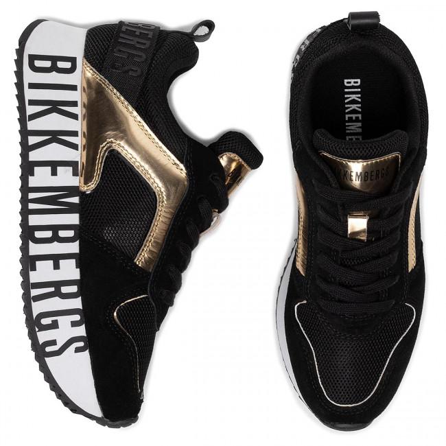 Sportcipő BIKKEMBERGS - Lorely B4BKW0096 Black/Gold - Sneakers - Félcipő - Női 72pJt