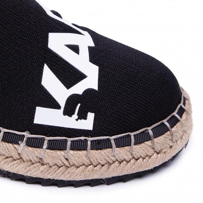 Espadrilles KARL LAGERFELD - KL80140 Black Knit Extile W/White - Espadrilles - Félcipő - Női pVCZR