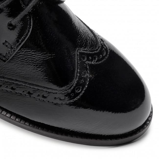 Oxford cipők CAPRICE 92320025 Black Naplak 017 Oxford Félcipő Női
