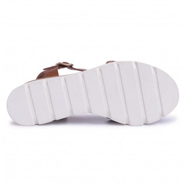 Szandál EDEO - 3564-T2 Brąz - Magasított sarkú cipők - Papucsok és szandálok - Női orNE6