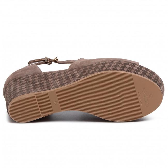 Szandál EDEO - 3565-1217/1218 Brąz - Magasított sarkú cipők - Papucsok és szandálok - Női igZNI