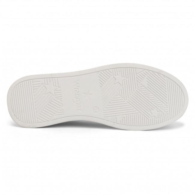Sportcipő WRANGLER - Olivia Punched WL01601A  White/Silver 405  - Sneakers - Félcipő - Női rglA1