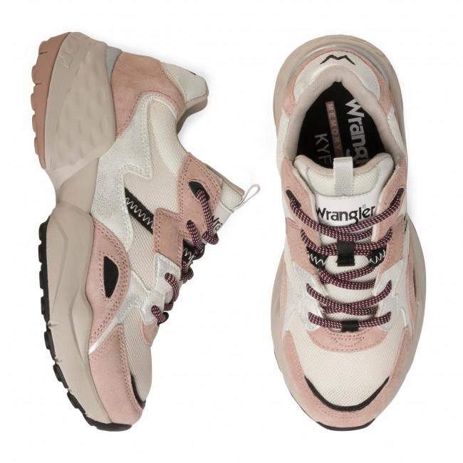 Sportcipő WRANGLER - Iconic 90 Sm WL01650A  Rose/Silver/Black 707 - Sneakers - Félcipő - Női KO4xZ