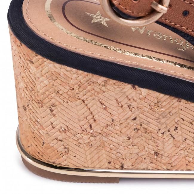 Szandál WRANGLER - Panama Mila' WL01530A Navy 016 - Magasított sarkú cipők - Papucsok és szandálok - Női PZnOy