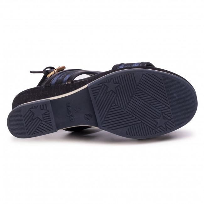 Szandál WRANGLER - Rhapsody Jeanies WL01553A  Navy 016 - Magasított sarkú cipők - Papucsok és szandálok - Női mndiD