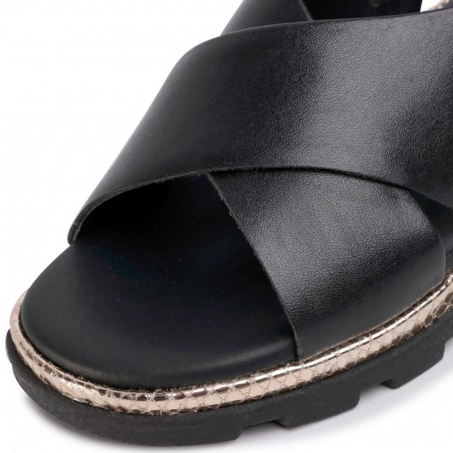 Szandál THE FLEXX - Lynn D1507/29 Black - Magasított sarkú cipők - Papucsok és szandálok - Női zz32b
