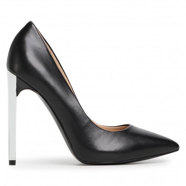 Tűsarkú GUESS - Edma FL7EDA LEA08 BLACK - Tűsarkú cipő - Félcipő - Női MCo0W