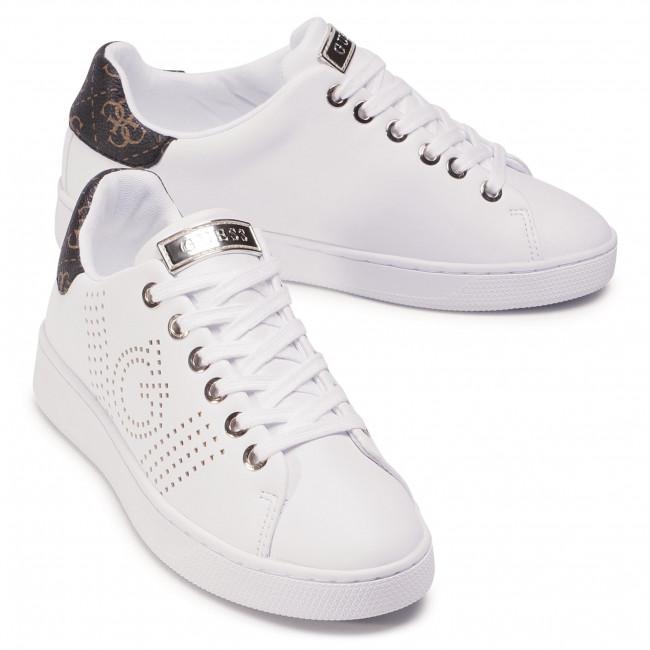 Sportcipő GUESS - Ranvo FL7RAO ELE12 WHBRW  - Sneakers - Félcipő - Női WrPNZ