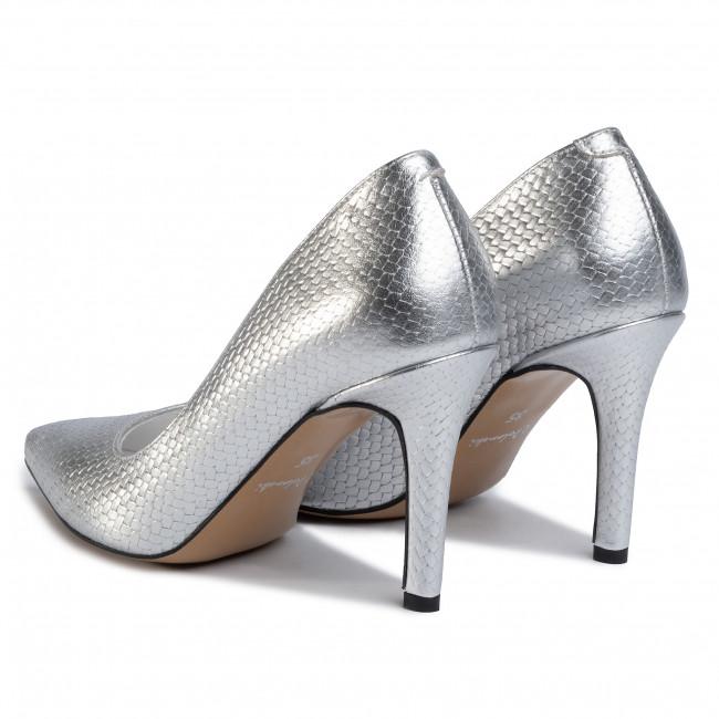 Tűsarkú R.POLAŃSKI - 1042 Srebrna Plecionka - Tűsarkú cipő - Félcipő - Női pA2sg