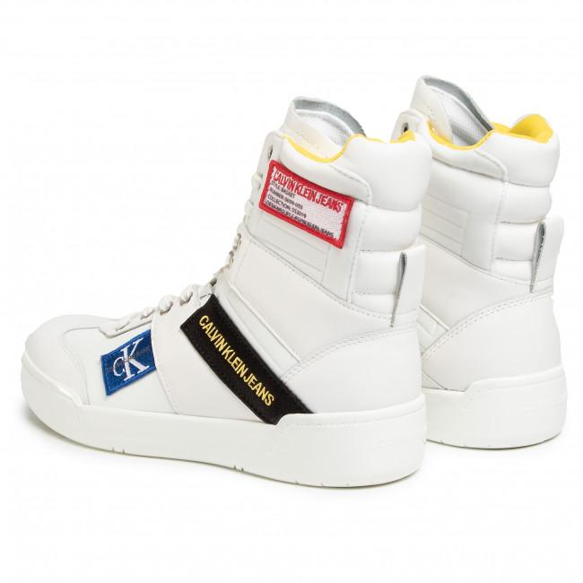 Sportcipő CALVIN KLEIN JEANS - Norton Nappa Leather S0580  Bright White  - Sneakers - Félcipő - Férfi