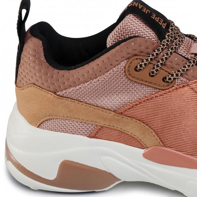 Sportcipő PEPE JEANS Sinyu Special PLS31081  Dark Peach 128  Sneakers Félcipő Női