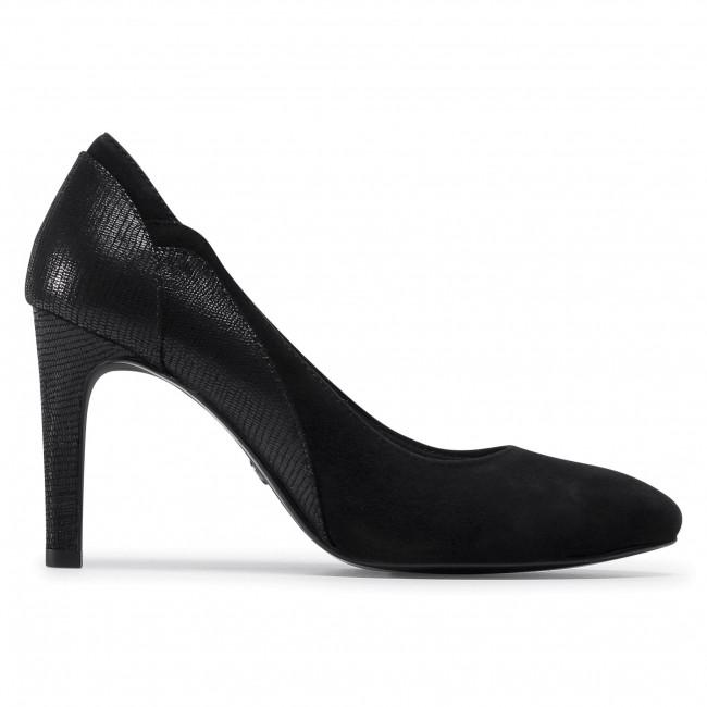 Tűsarkú TAMARIS - 1-22405-25 Black 001 - Tűsarkú cipő - Félcipő - Női aUypn