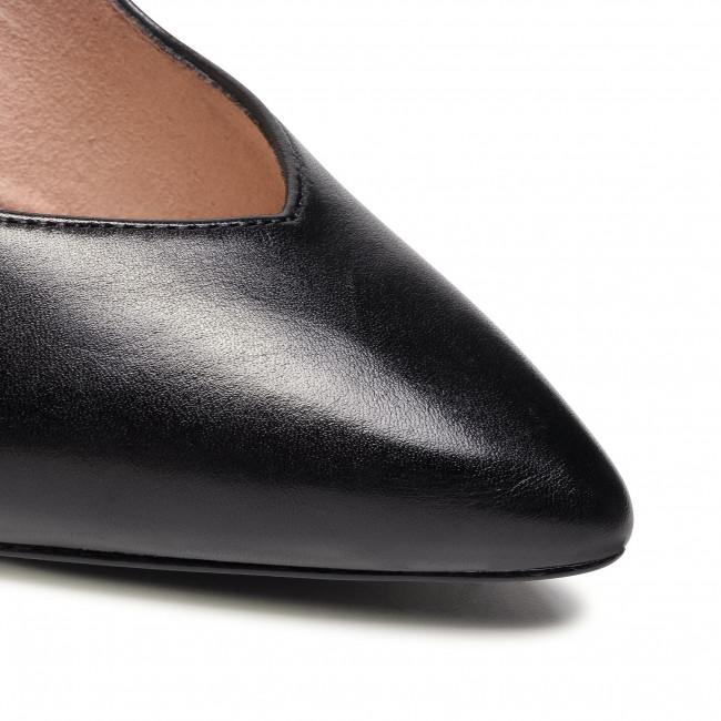 Tűsarkú TAMARIS - 1-22443-25 Black Leather 003 - Tűsarkú cipő - Félcipő - Női VJAyz