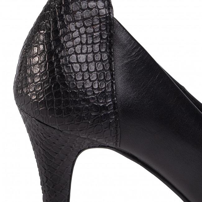 Tűsarkú TAMARIS - 1-22445-25 Black/Struct. 021 - Tűsarkú cipő - Félcipő - Női SimY5