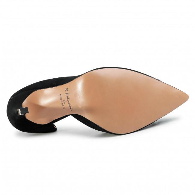 Tűsarkú R.POLAŃSKI - 1132 Czarny Zamsz - Tűsarkú cipő - Félcipő - Női OOIDn