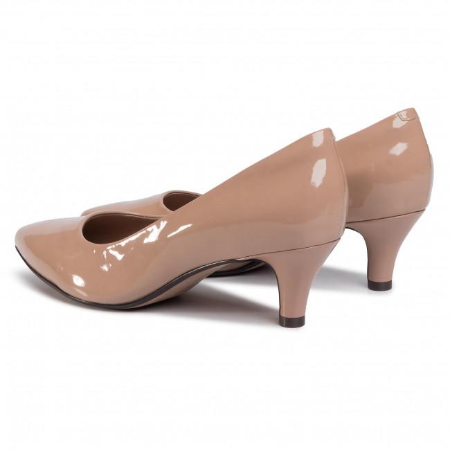 Tűsarkú CLARKS - Linvale Jerica 261381985  Nude Patent - Tűsarkú cipő - Félcipő - Női Yzo11