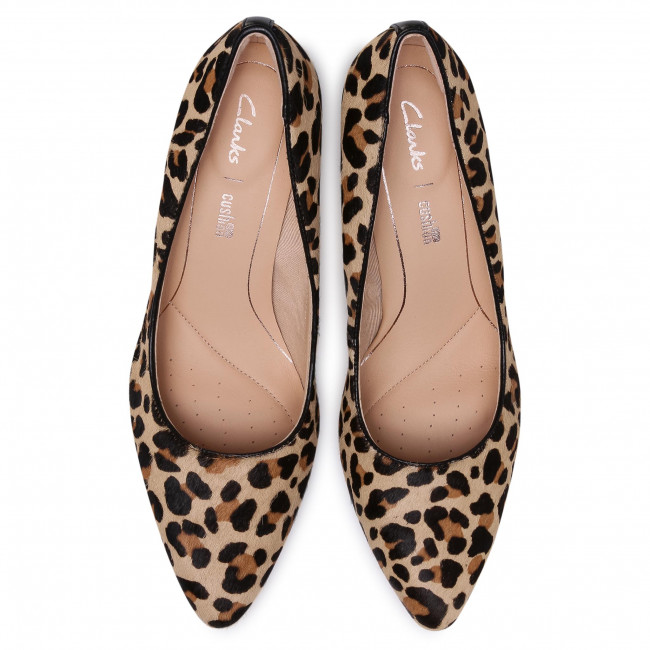 Tűsarkú CLARKS - Laina Rae 261463644 Leopard Print - Tűsarkú cipő - Félcipő - Női 2g7nZ
