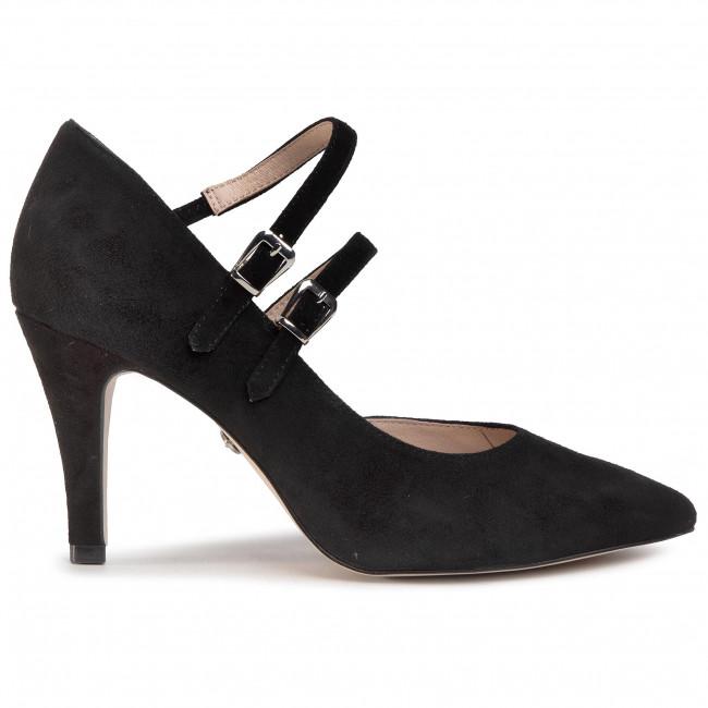 Tűsarkú CAPRICE - 9-24402-24 Black Suede 004 - Tűsarkú cipő - Félcipő - Női ISQSb