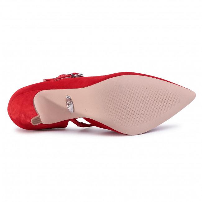 Tűsarkú CAPRICE - 9-24402-24 Red Suede 901 - Tűsarkú cipő - Félcipő - Női Fs11h