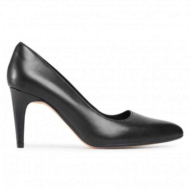 Tűsarkú CLARKS - Laina Rae 2 261546954 Black Leather - Tűsarkú cipő - Félcipő - Női rLW5x
