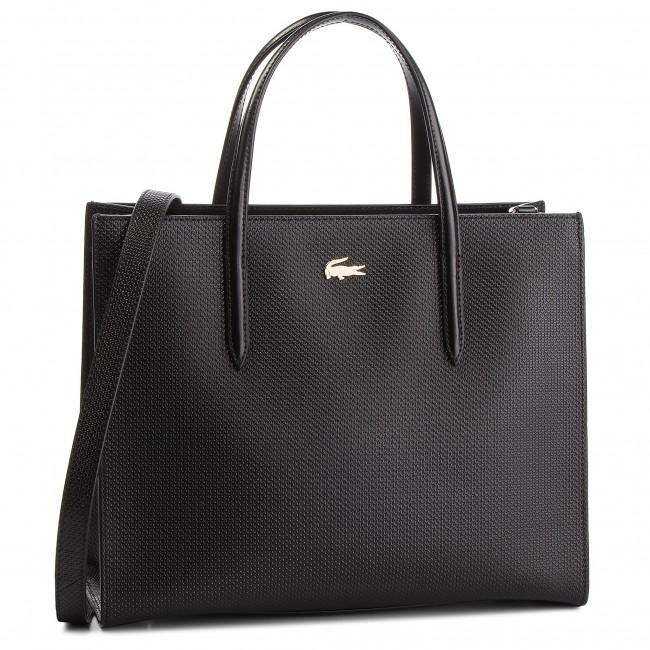 Táska LACOSTE - L Shopper Bag NF2563CE Black 000 - Klasszikus ... 8f7194e3cc