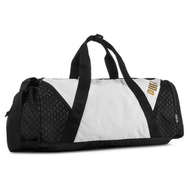 Táska PUMA - Ambition Barrel Bag 075460 Puma White Puma Black 01 ... 34b18027bb