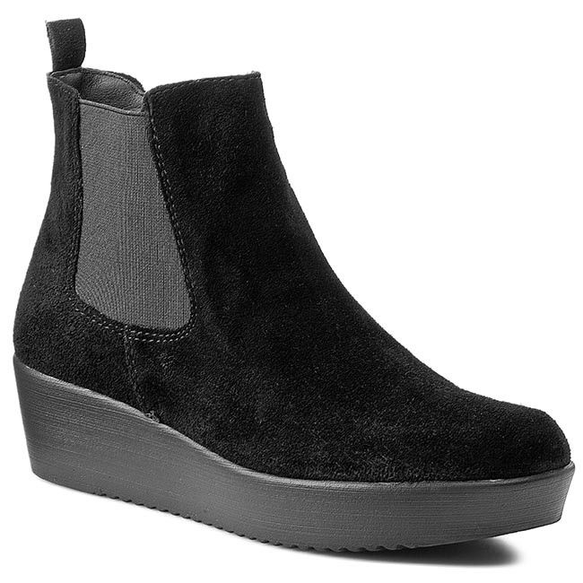 Magasított cipő TAMARIS - 1-25481-25 Black Uni 007 - Magasított ... ccec7cd27d