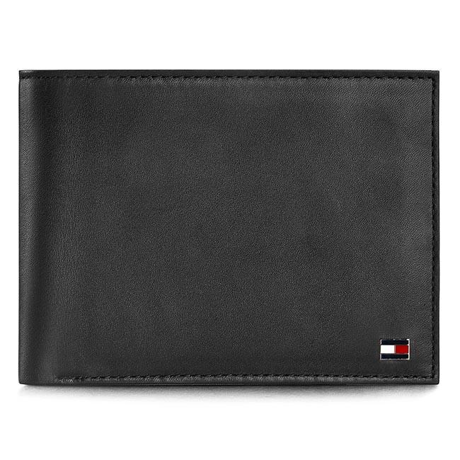 9d6077bb2f Nagy férfi pénztárca TOMMY HILFIGER - Eton Cc And Coin Pocket AM0AM00651 Black  002