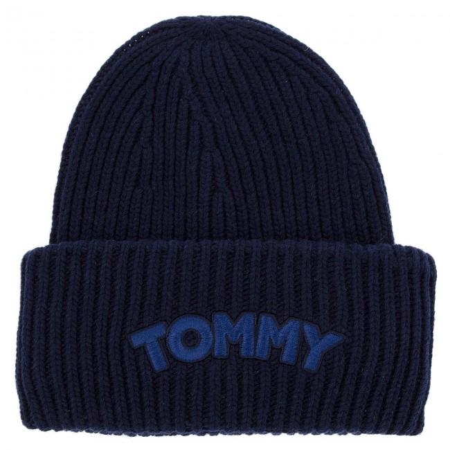 Sapka TOMMY HILFIGER - Logo Patch Beanie AW0AW05942 413 - Női ... 8621d965bf