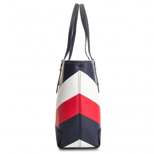 cd67d4505b Táska TOMMY HILFIGER - Honey Med Tote Print AW0AW05665 902 ...