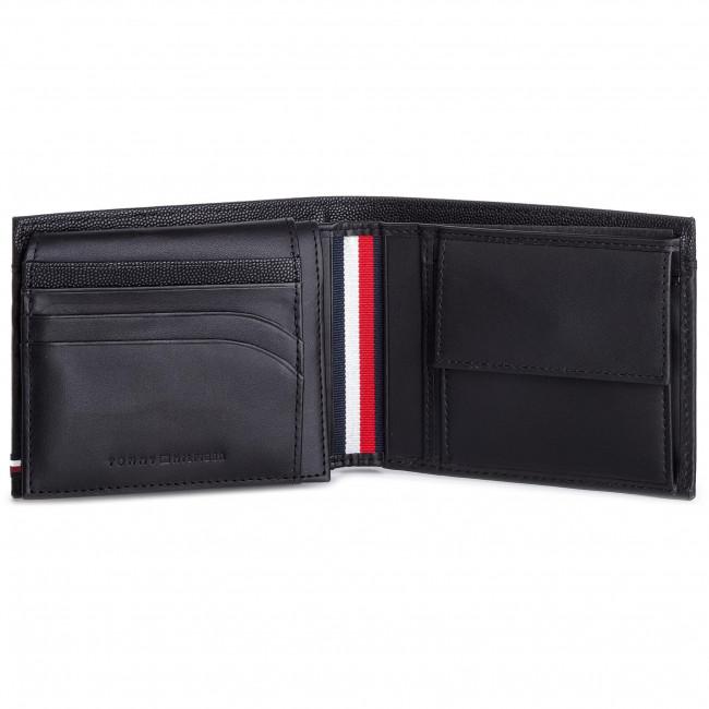 ae333c0fd1 Nagy férfi pénztárca TOMMY HILFIGER - Bi-Material Cc Flap And Coin  AM0AM04539 002