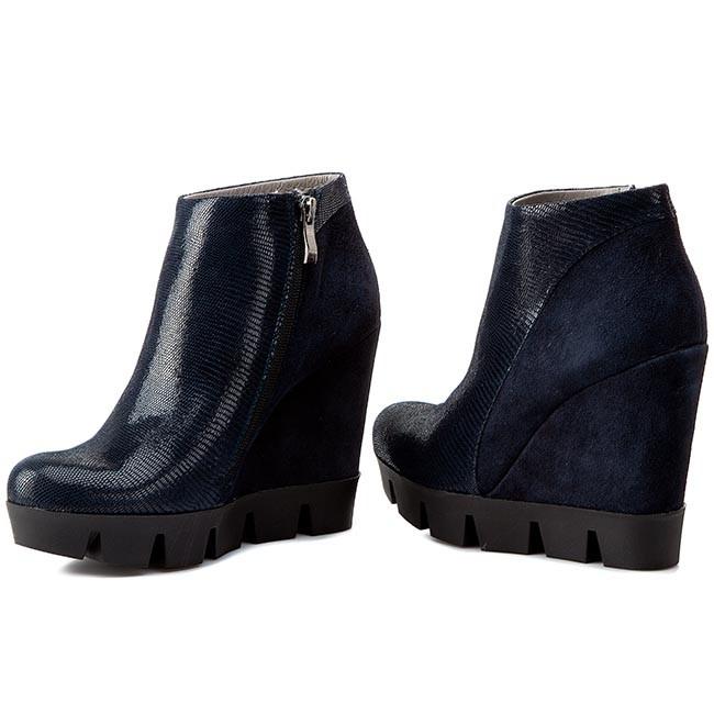 Magasított cipő NESSI - 690 N Granat Lizaro Granat - Magasított ... 015b8176f7