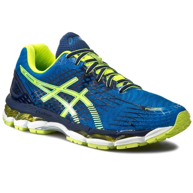 the latest 44301 c412b Cipők ASICS - Gel-Nimbus 17 T507N Eletric Blue/Flash Yellow/Indigo Blue