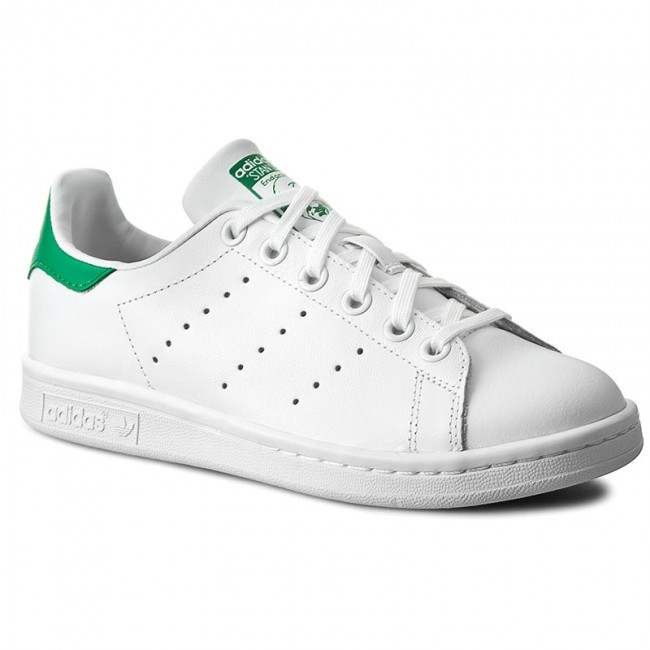 Cipők adidas - Stan Smith J M20605 Ftwwht/Ftwwht/Green
