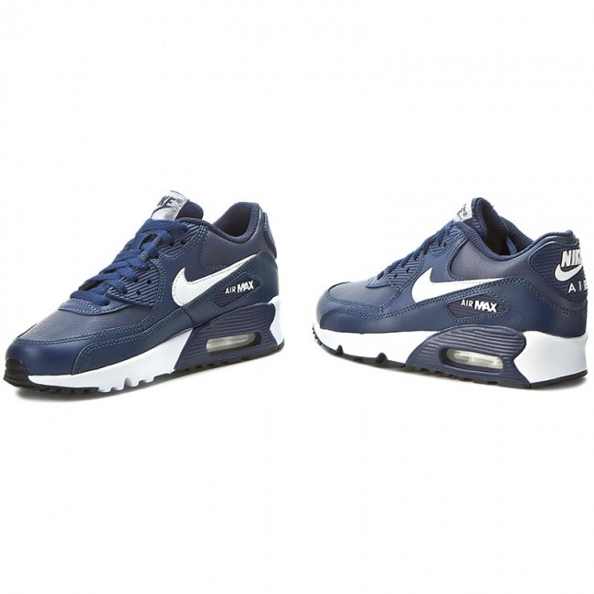 Cipők NIKE Air Max 90 Ltr (Gs) 833412 400 Midnight NavyWhiteBlack