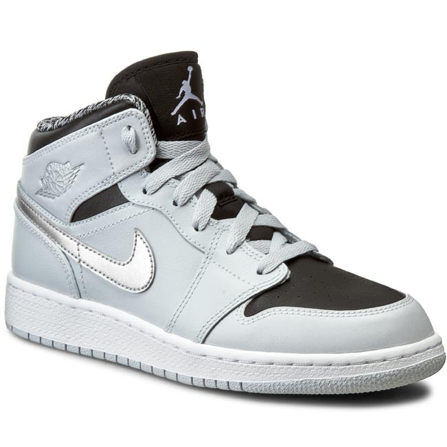 Nike Men's Air Jordan 1 Mid Top Basketball Shoes White