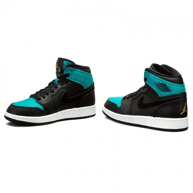 Cipők NIKE Air Jordan 1 Retro High GG 332148 011 BlackMetallic GoldRio Tral